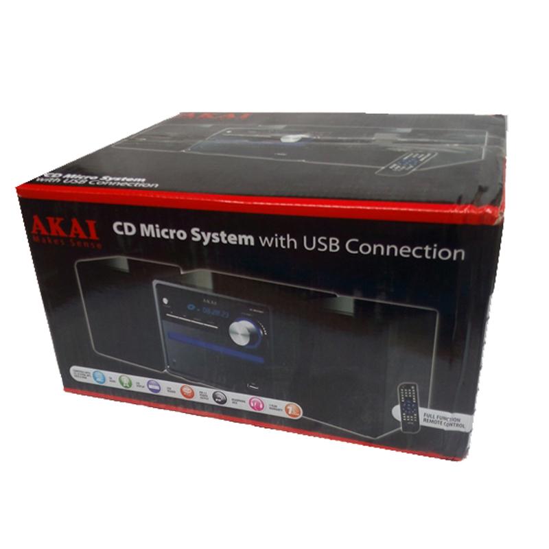 超值特价AKAI日本雅佳迷你CD组合音响USB MP3桌面书架CD机音响