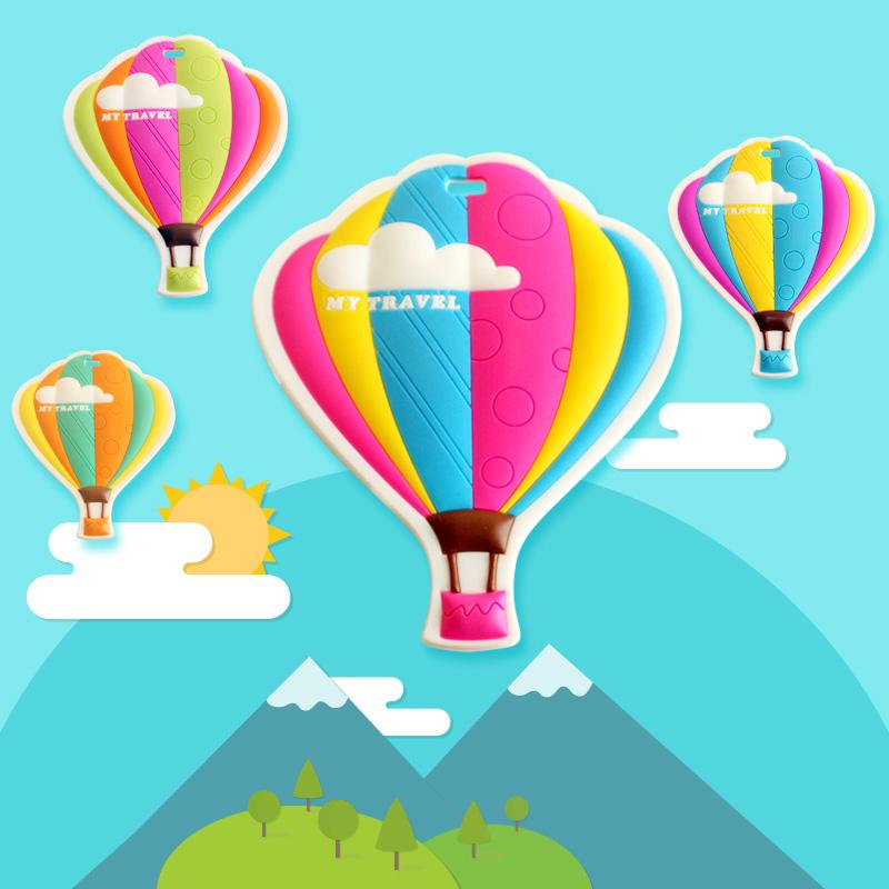 熱氣球登機牌旅行箱行李牌韓國行李箱掛牌吊牌託運牌出國留學用品
