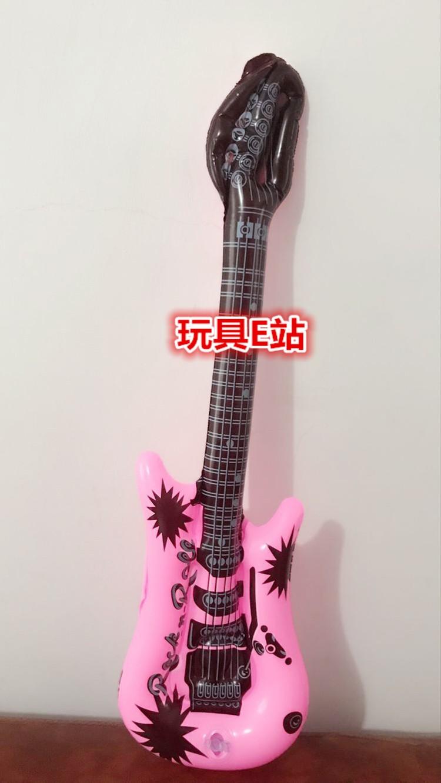 充气吉他批发玩具 PVC大小吉他批发儿童玩具地摊充气仿真乐器来样