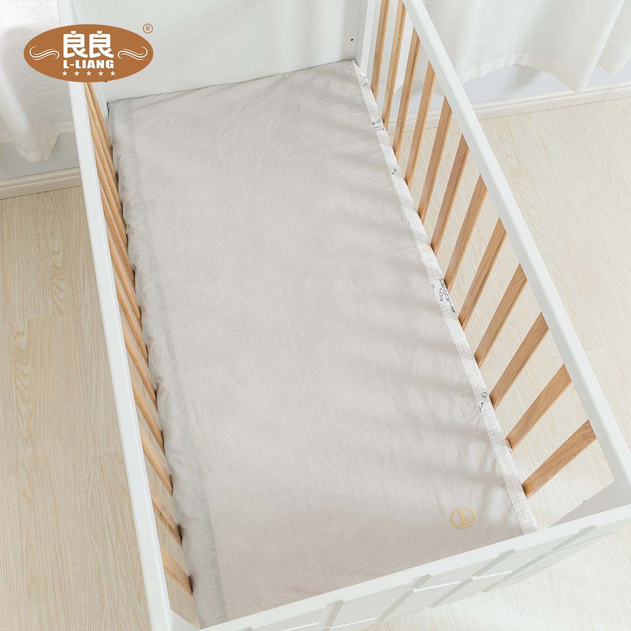 良良 婴儿床单床品宝宝床上用品新生儿童四季通用床单枕套2件套