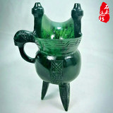 Gansu Qilian Remanbar imperial Grand cup genuine jade old crater
