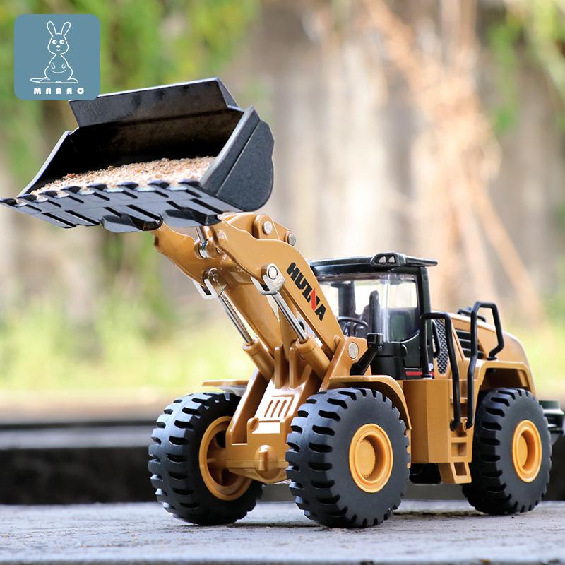 铲车模型合金工程车仿真推土装载机翻斗运输车儿童压路机男孩玩具