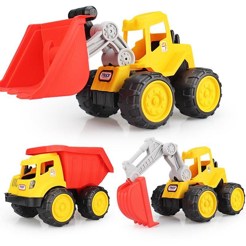 耐摔儿童沙滩玩具车大号工程车推土机挖掘机铲车翻斗卡车模型男孩