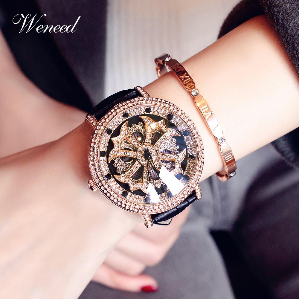 时来运转手表女霸气名牌女表个姓帅气时尚潮流大表盘女士国产腕表