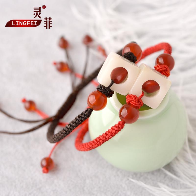 玲珑骰子安红豆手工diy材料包制作入骨相思豆手链筛子古风饰品