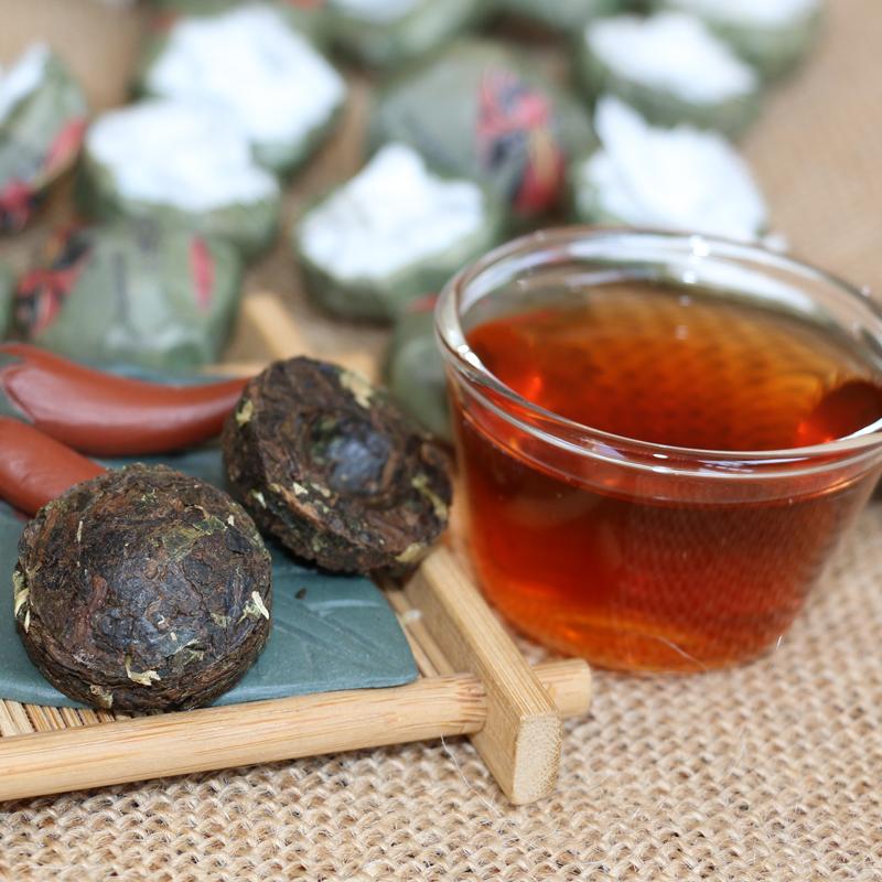 云南旅游特产回礼茶叶古树茶袋装 迷你小沱茶 糯米香普洱茶熟茶