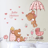 Wall Stickers Living Room Children's Room Wallpaper Bedroom Wallpaper Self-adhesive Warm Removable Room Decoration Cartoon Wall Sticker