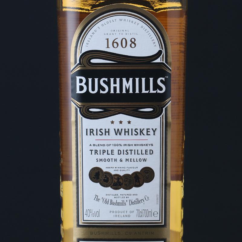 洋酒 奥妙普通版 WHISKEY IRISH BUSHMILLS 布什米尔斯爱尔兰威士忌