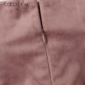 COCO DEAL日系秋冬气质高腰系带插袋绒面直筒阔腿长裤女37616247