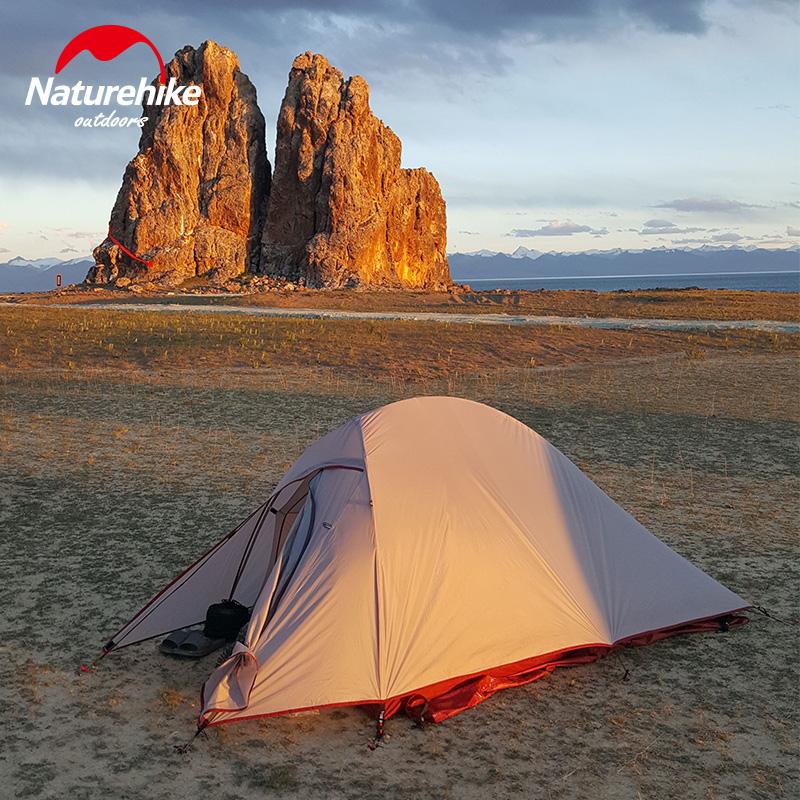 NH挪客云尚超轻帐篷户外单人双人双层防雨野外登山露营野营装备