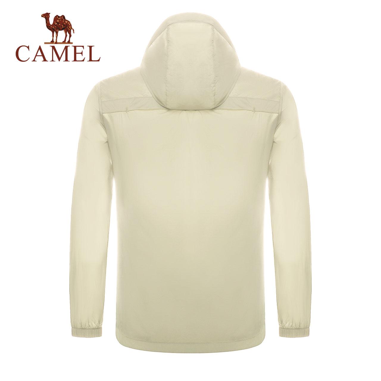 骆驼男装皮肤风衣春夏新款防晒抗紫外线时尚连帽纯色休闲舒适外套