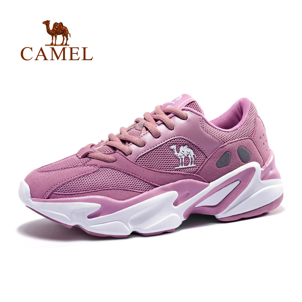 骆驼运动鞋2018新款女鞋运动时尚休闲透气减震防滑耐磨轻便运动鞋