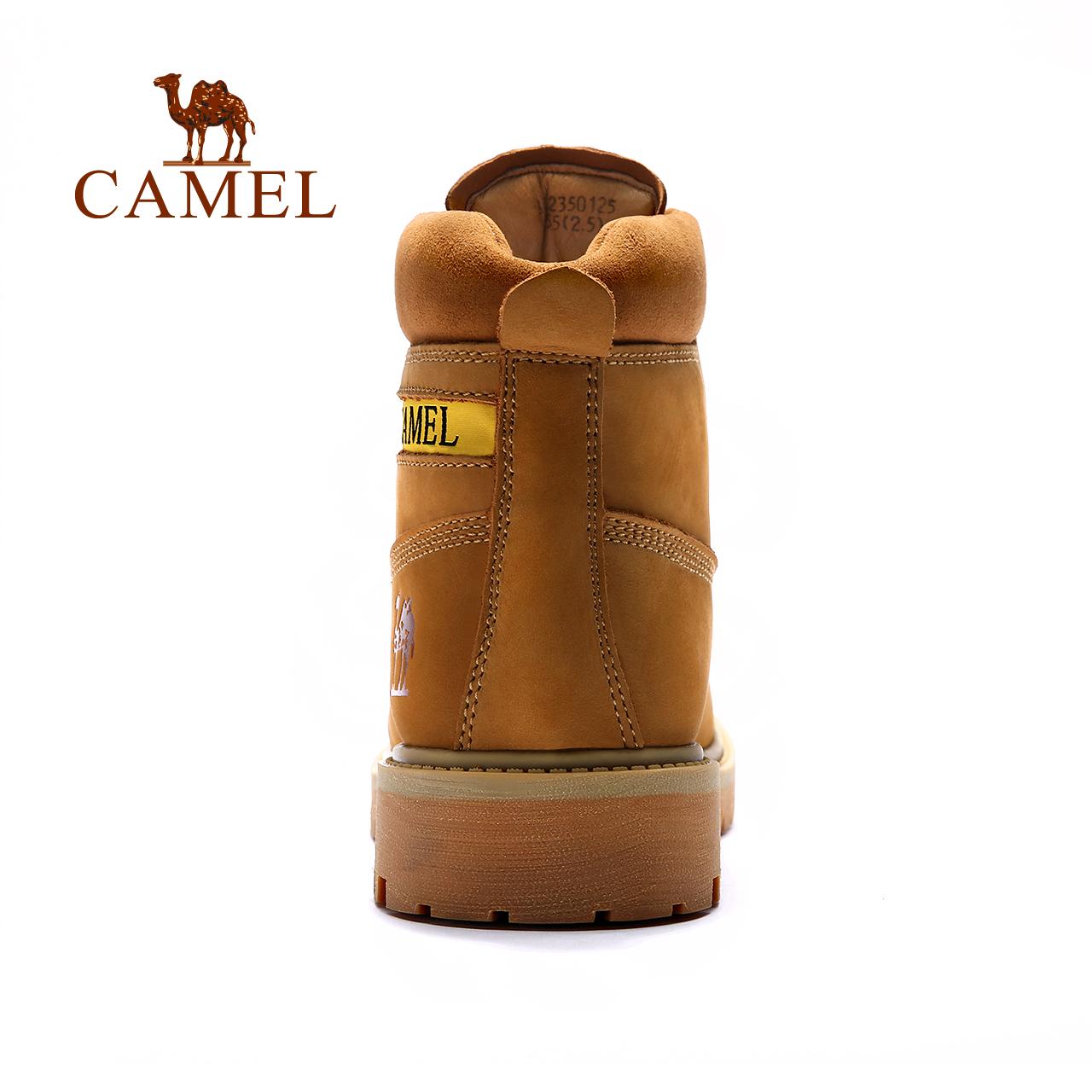 秋冬磨砂牛皮高幫工裝鞋防滑耐磨大黃靴 駱駝戶外休閑男鞋 CAMEL