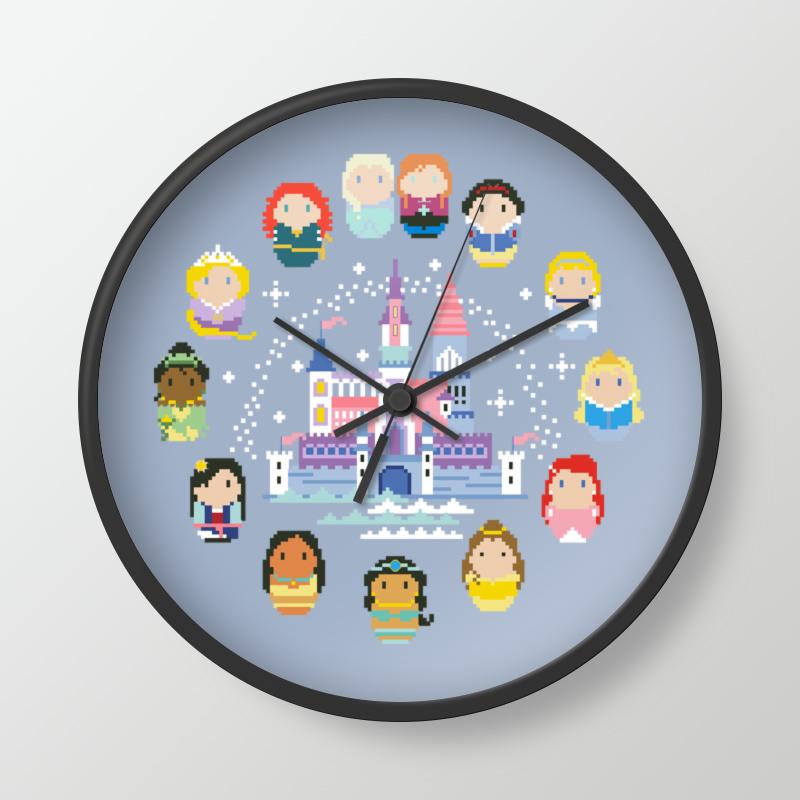 DMC十字繡套件客廳新款KT3532雜誌款公主城堡鐘面鐘錶淺藍布印花
