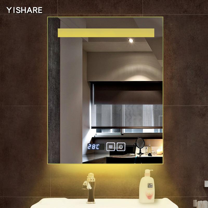 Yishare 智能镜子壁挂卫生间镜子无框LED灯镜带灯浴室镜防雾镜子