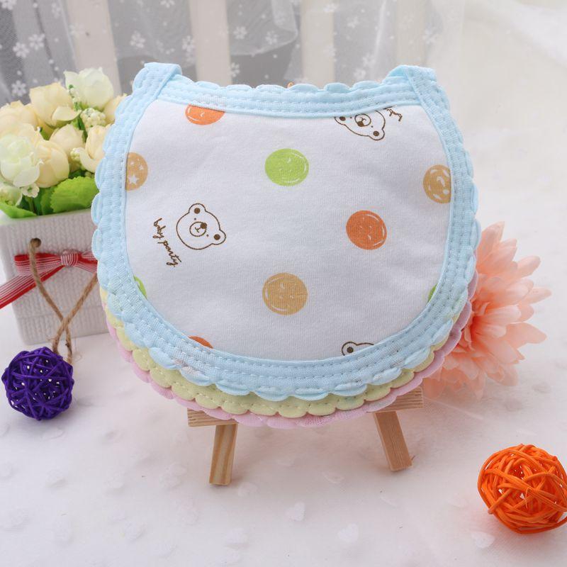 新生儿系带小围嘴 宝宝口水围兜婴儿口水巾纯棉冬春夏季圆形全棉