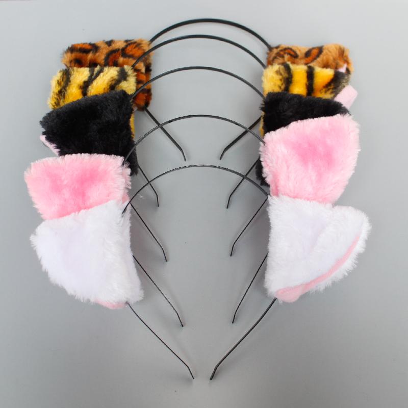万圣节猫耳朵头箍 带铃铛蕾丝发箍cosplay头饰动漫舞会 热销