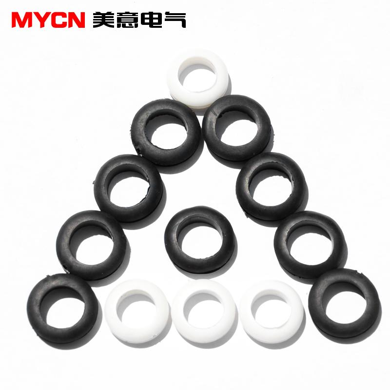 双面护线圈 橡胶圈 密封圈 护线环 过线圈 3 4 5 6 7 8 10 12mm