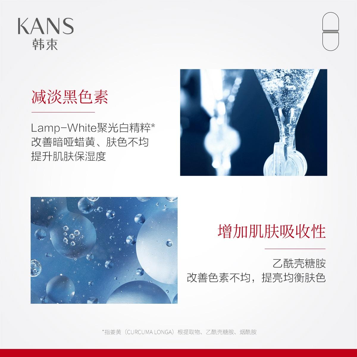 韓束銀膠囊高機能淡斑精華液煙酰胺美白補水保濕提亮膚色官網正品