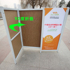 Promotional stand, exhibition stand, tasting stand, small cart, stall, push advertising table, mobile folding display stand