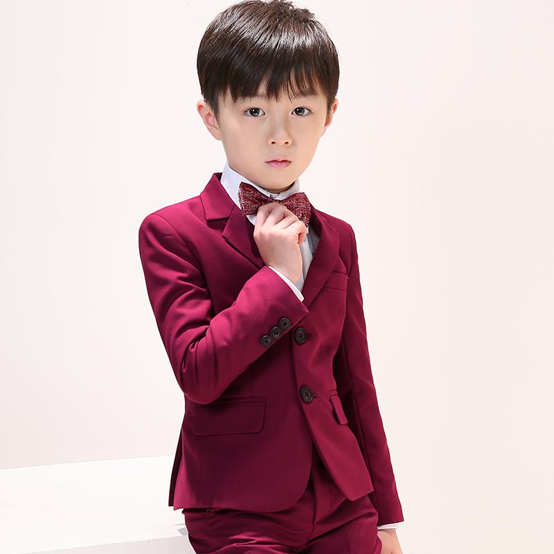 男童礼服套装韩版花童小主持人钢琴表演服男孩西装三件套小孩夏季