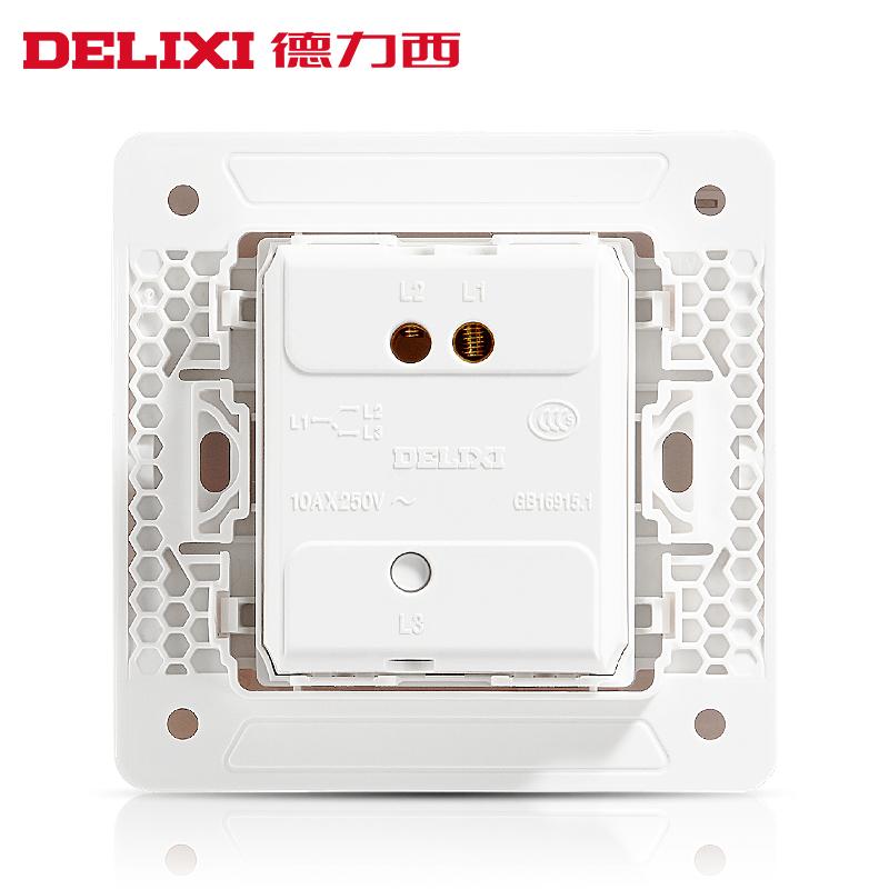 德力西开关插座大面板无边框开关电源墙壁插座 一开单控开关插座