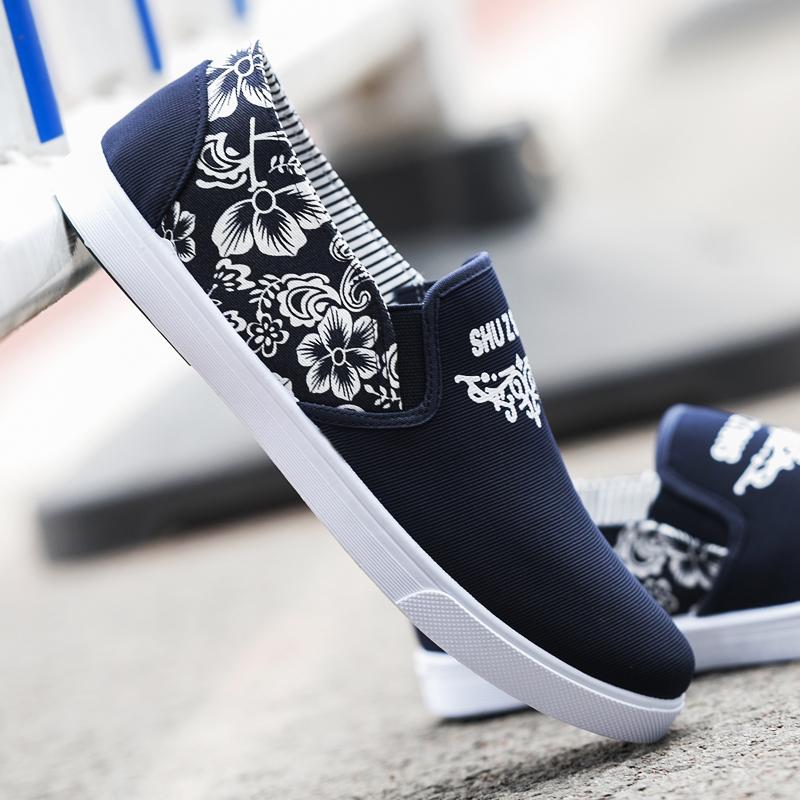 鞋子男春季青春潮流休闲鞋北京布鞋男透气帆布鞋英伦运动板鞋潮鞋