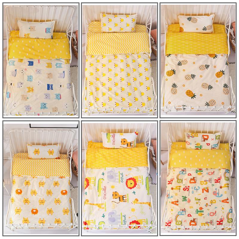 幼儿园被子三件套儿童被褥纯棉被套宝宝午睡夏季床上用品六件入园