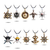 22 One Piece Collection Leather String Necklace Pendants