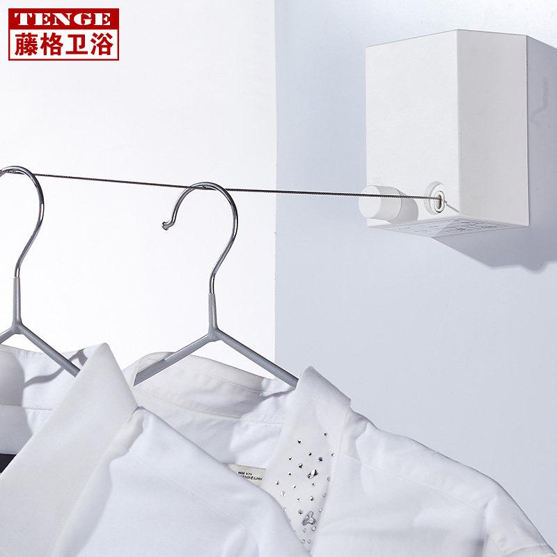 浴室晾衣神器钢丝绳不锈钢伸缩晾衣绳室内阳台隐形晾衣架长免打孔
