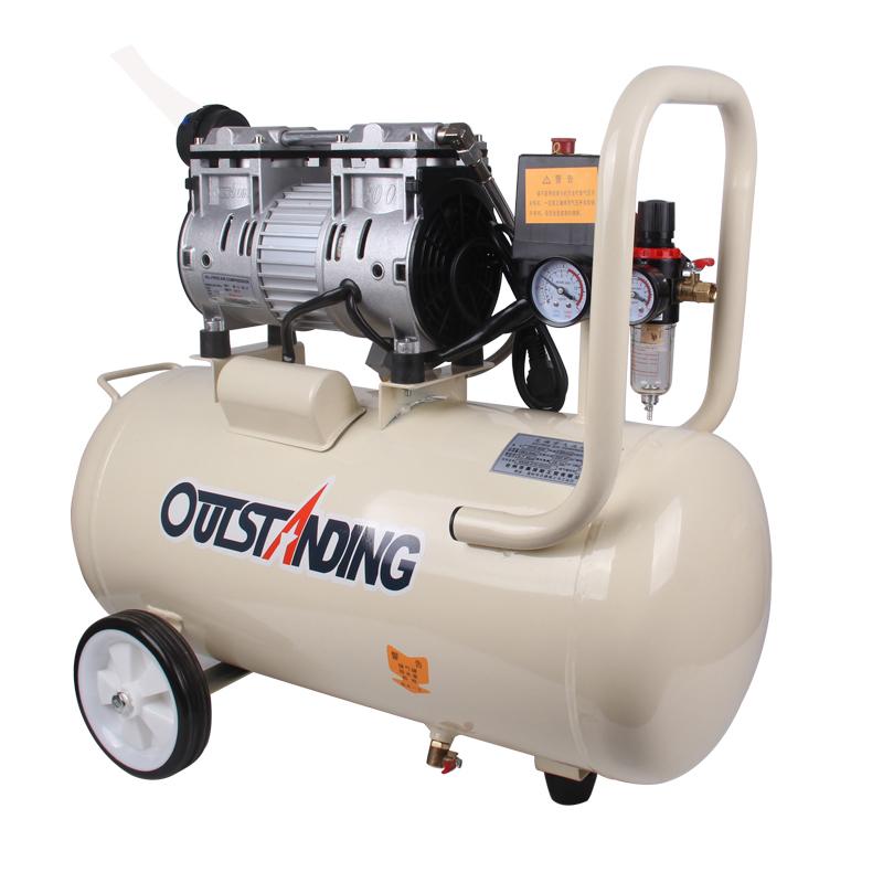 奥突斯静音无油木工喷漆便携充气泵 220V 空压机小型高压气泵空压机