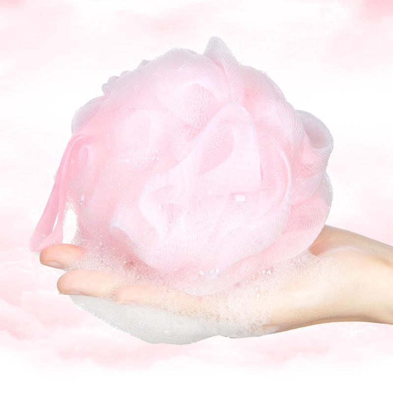 姣兰 糖果色舒适浴球/浴花/浴擦/沐浴球 洗澡多泡泡