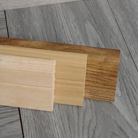 纯实木踢脚线烤漆白色黑北欧灰简约美式原木墙角装饰中式贴地脚线