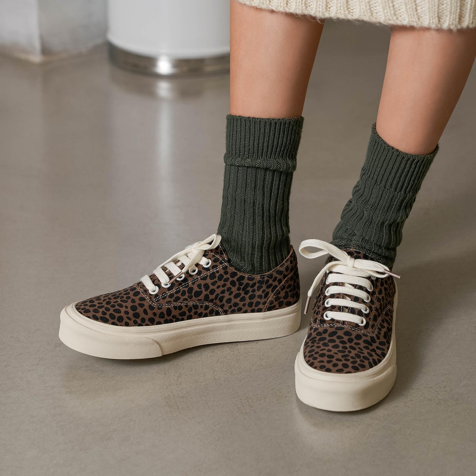 玛速主义 2021新款豹纹低帮帆布鞋女夏小众真皮平底休闲板鞋ins潮 No.1
