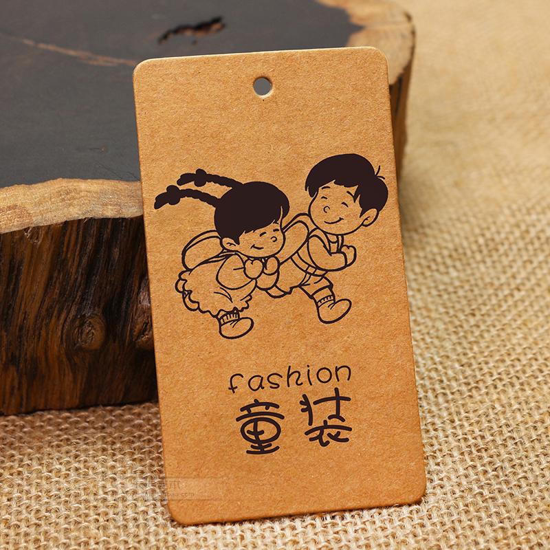 牛皮纸吊牌定做童装标签订制牛仔个性牛卡制作logo烘焙卡现货印刷