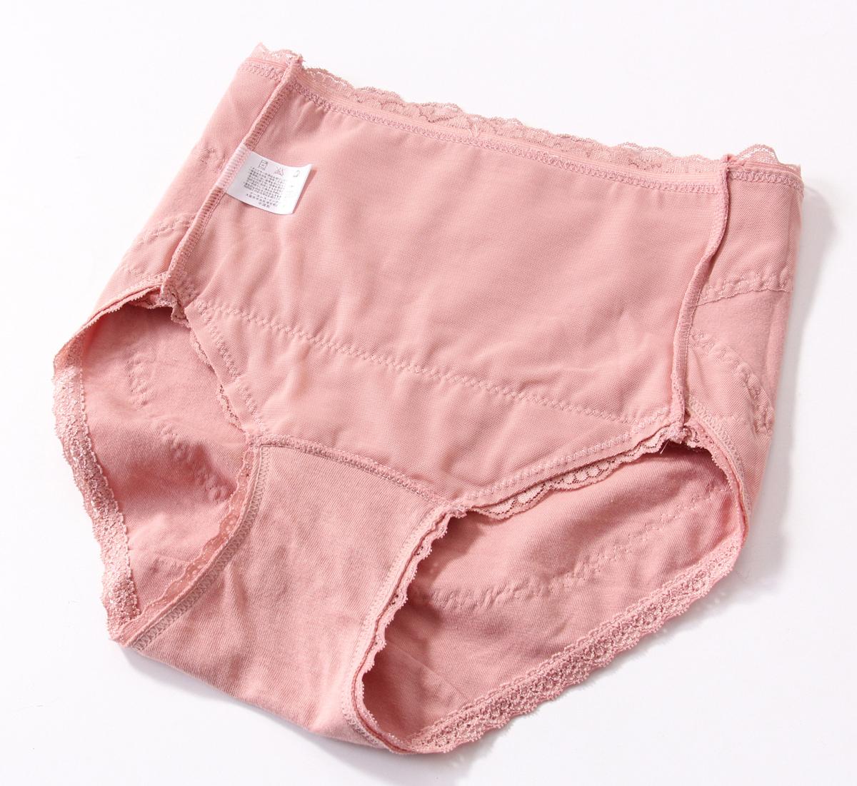 氨棉女士中腰内裤内网纱收腹提臀舒适轻薄弹力夏季女内裤有大码