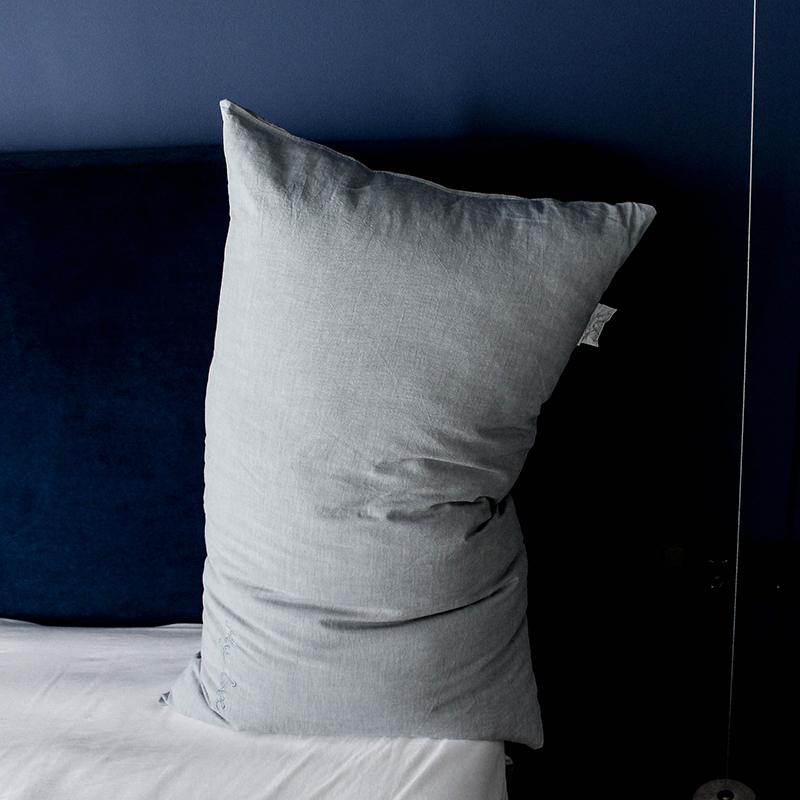 全棉水洗棉单人枕芯可水洗枕头松软枕芯家用单人学生宿舍床一只装