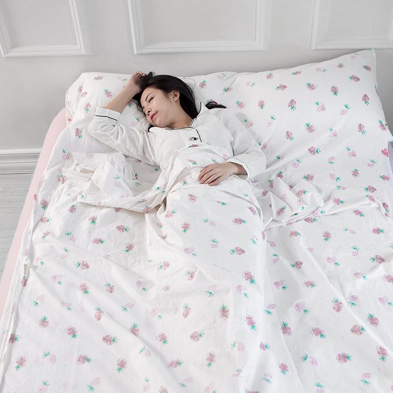 全棉酒店隔脏睡袋便携式出差旅行宾馆睡袋防脏床单单人双人纯棉