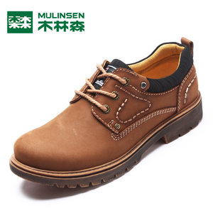 木林森马丁靴男士短靴2017秋季新款板鞋潮流休闲皮鞋透气工装鞋子
