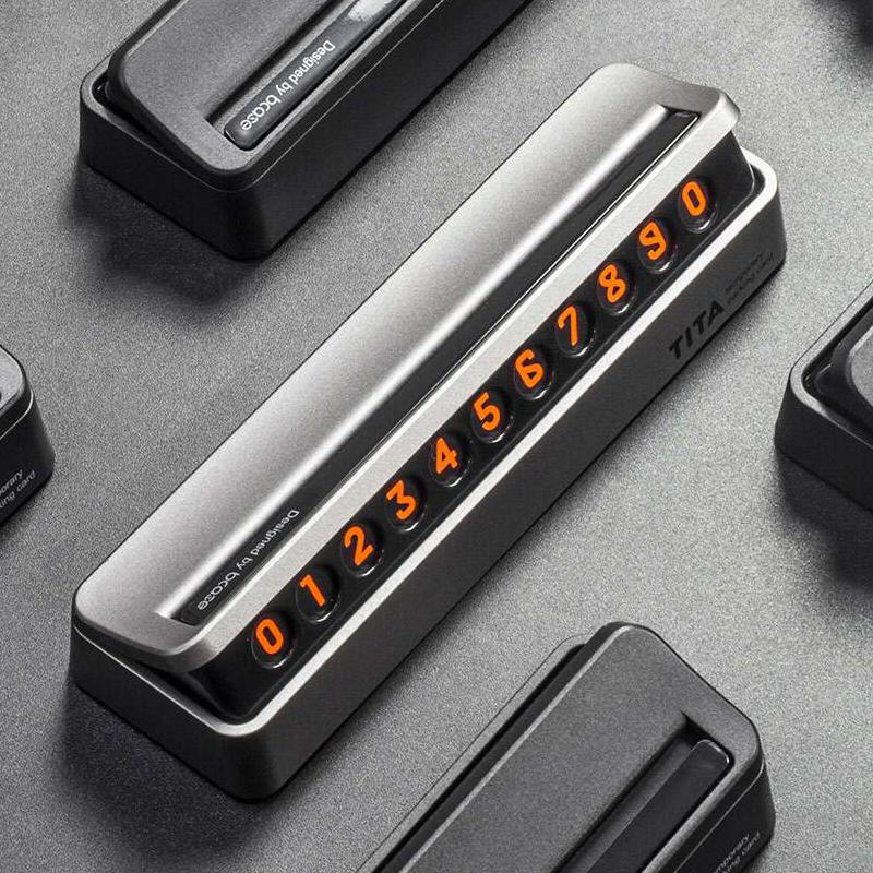 TITA汽车临时停车牌挪车电话号码牌创意移车牌隐藏式汽车装饰用品