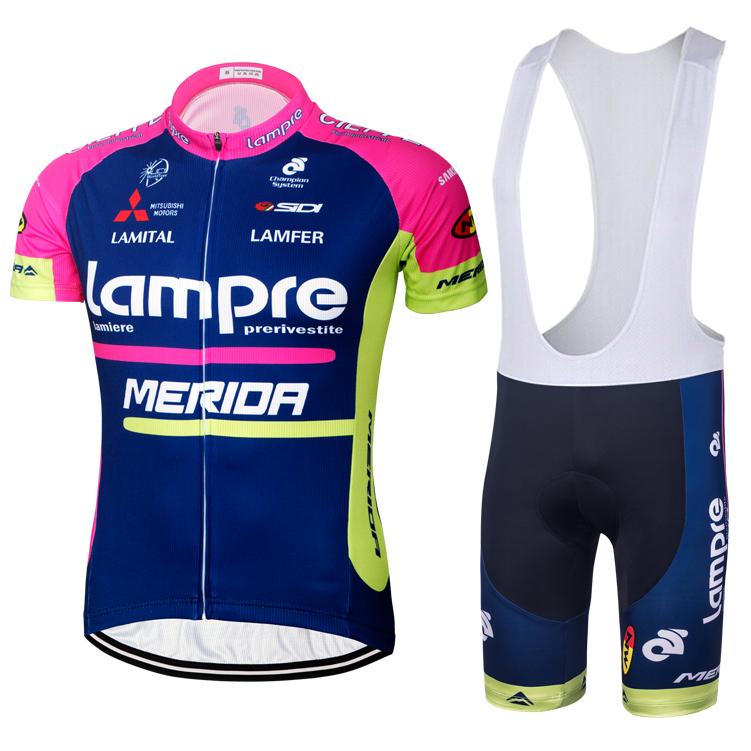 特價包郵 16藍波粉色騎行服揹帶短袖套裝單車上衣短褲公路自行車