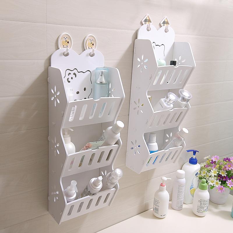 卫生间浴室置物架壁挂厕所洗手间墙面台面转角洗漱化妆品收纳架