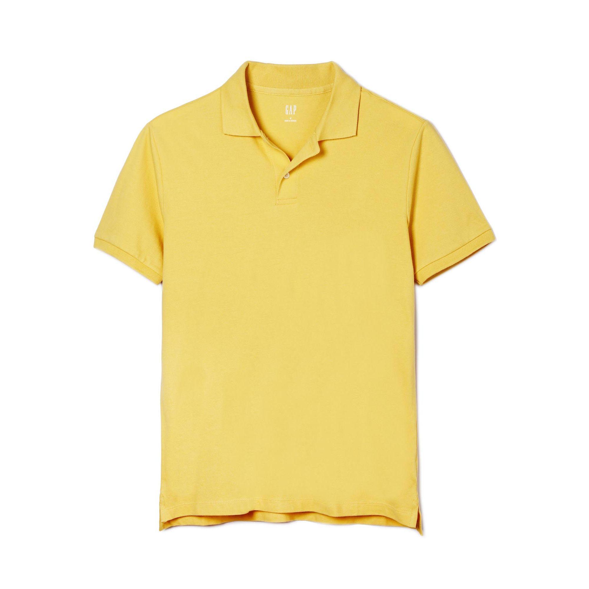 223627 恤男潮 T 短袖 衫男 polo 基本款弹力纯色短袖男士 男装 Gap