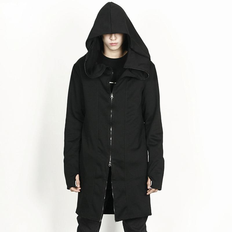 太子龙秋冬装刺客信条风衣男暗黑系中长款斗篷巫师卫衣男披风外套