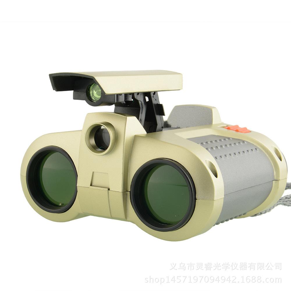 淘宝热销 弹出式带灯可调焦儿童玩具双筒望远镜夜视高清高倍