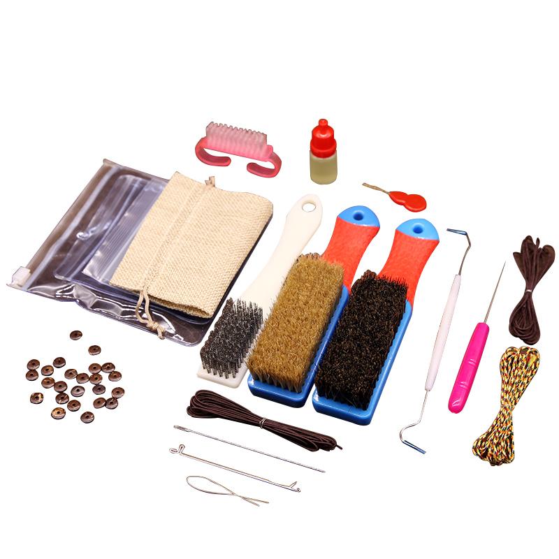 文玩工具纳米刷子套装金刚菩提橄榄核桃钢丝刷保养清理野猪鬃毛刷