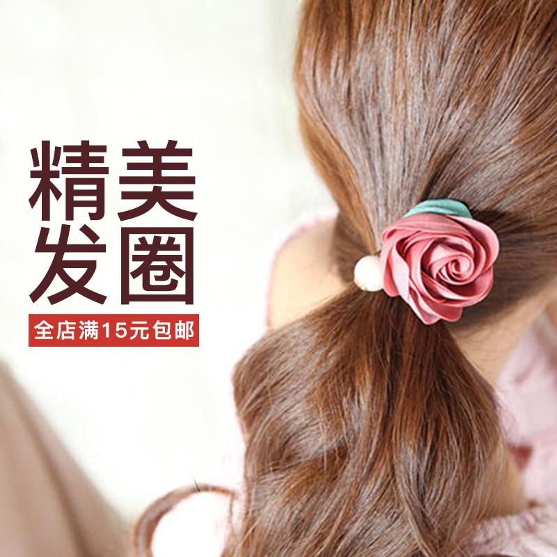 韩国扎头发马尾成人饰品皮套发饰发圈小清新发绳女韩版可爱头绳