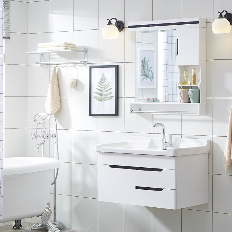 浴室柜洗手盆柜组合洗漱台洗脸盆柜组合小户型洗漱台浴柜现代简约
