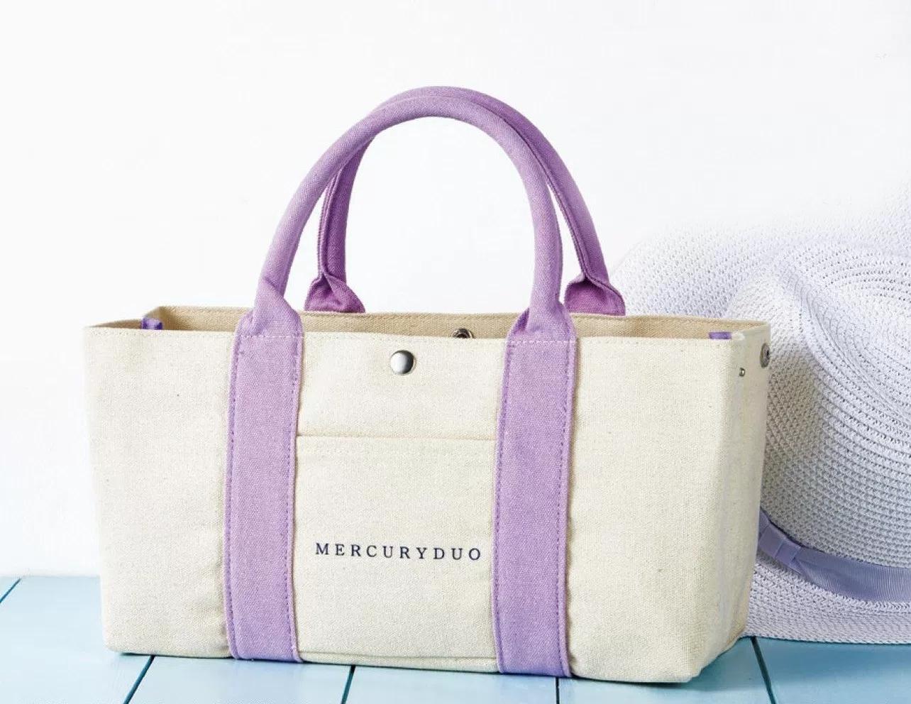 日本雜誌款便當包大容量加厚飯盒袋 簡約帆布手拎包女日式午餐包