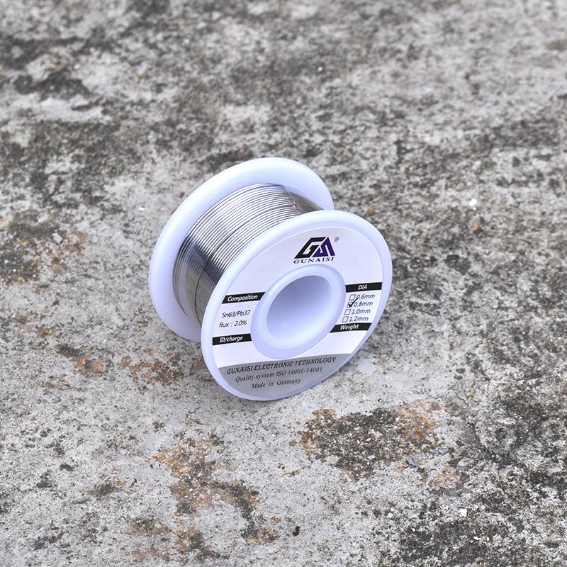 松香芯焊锡丝 焊丝 焊锡 电烙铁配件 焊接工具 63A高亮免洗锡线